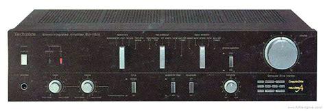 technics su  manual stereo integrated amplifier