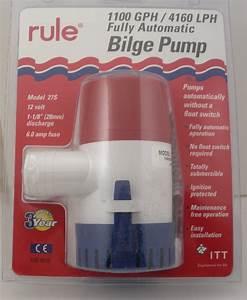 Rule 27s 1100 Gph Automatic Bilge Pump For 1 8 U0026quot  Hose