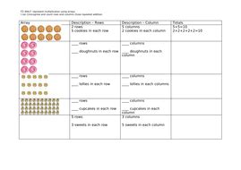 year 1 making arrays by teachchan teaching resources