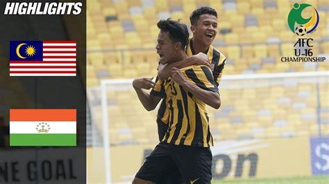 Malaysia u19 vs tajikistan u19. AFC u16 Championship 2018| Malaysia VS Tajikistan(Goal ...
