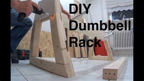 dumbbell rack diy youtube