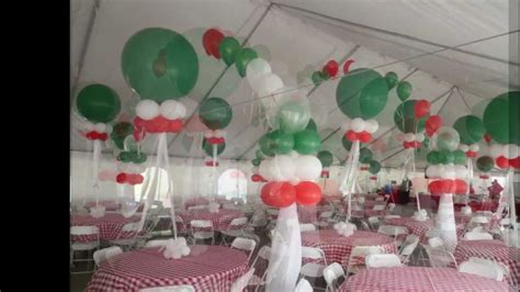 Italian Decorations For Home: Italian Themed Corporate Party. Tent Balloon Decoration