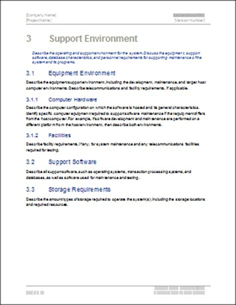 It Support Plan Template by Maintenance Plan Template