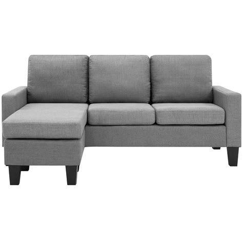 Chaise And Ottoman by Home Microfiber L Shape Sectional Sofa W Reversible