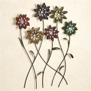 Flower song metal wall art for Flower wall art