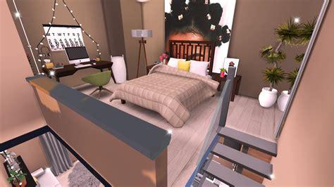 tiny modern loft  sims  speed build youtube