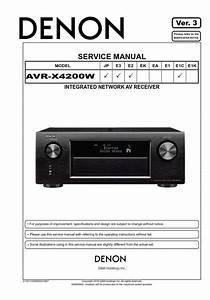 Denon Avr X4200w A  V Receiver Service Manual