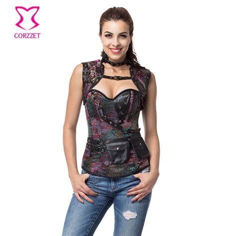 6XL Sexy Corpetes E Espartilhos Plus Size Steampunk Corset Gothic Clothing Steel Boned Corsets ...