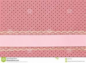 Pink Retro Polka Dot Textile Stock Photo - Image: 49721160