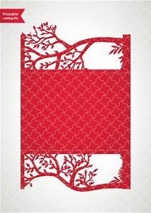 printable digital template for laser cut wedding by With cricut tree wedding invitations