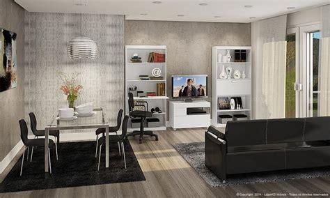 sala de estar conjugada  sala de jantar   estantes