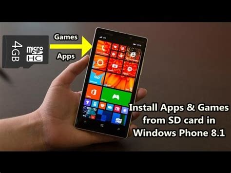 how to install apps and from sd card in windows phone 8 1