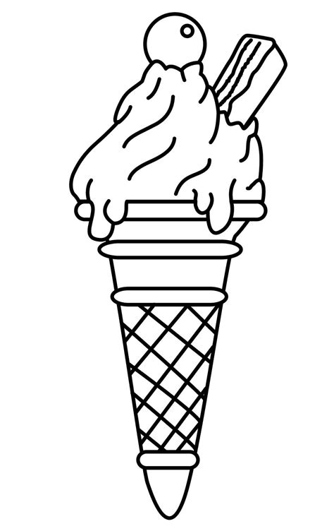 ice cream coloring pages    http