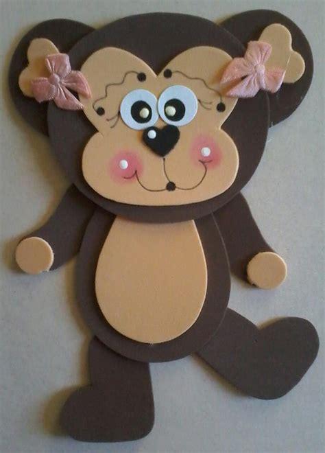 foam monkey craft  preschool  homeschool
