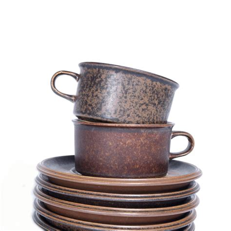 More and more people were putting on the kettle to make a cup of instant coffee instead. Swedish Ceramic Coffee Cups from 1960s at 1stdibs