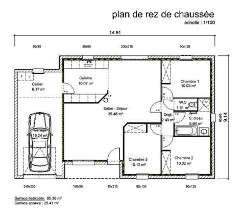 plan maison plain pied 3 chambres gratuit plan maison en v plain pied gratuit 10 maison de plain