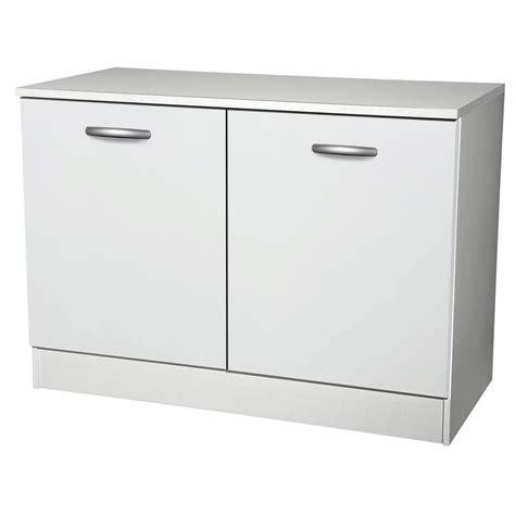 meuble bas cuisine meuble de cuisine bas 2 portes blanc h86x l120x p60cm leroy merlin