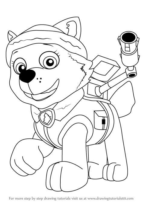 learn   draw everest  paw patrol paw patrol step  step drawing tutorials