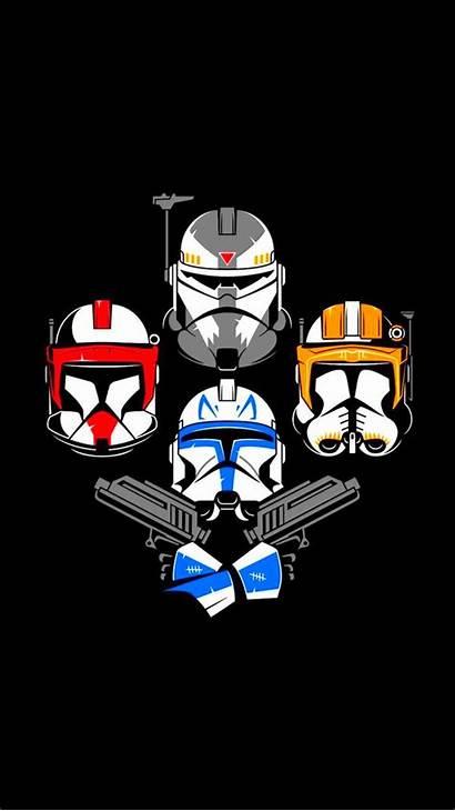 Clone Wars Trooper Helmet Star Wallpapers Iphone