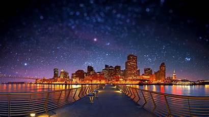 Desktop Stars Shift Starry Night Wallpapers Background