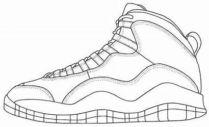 Coloring Sneaker Nike Pages Basketball Printable Shoe