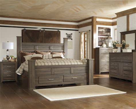 majik juararo king poster storage bed dresser mirror