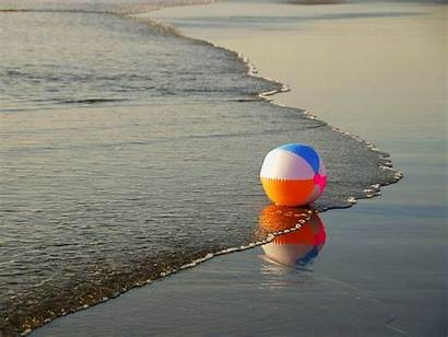 Summer Fun Beach Wallpapers Ball Water Colorful