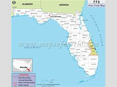 772 Area Code Map, Where is 772 Area Code in Florida