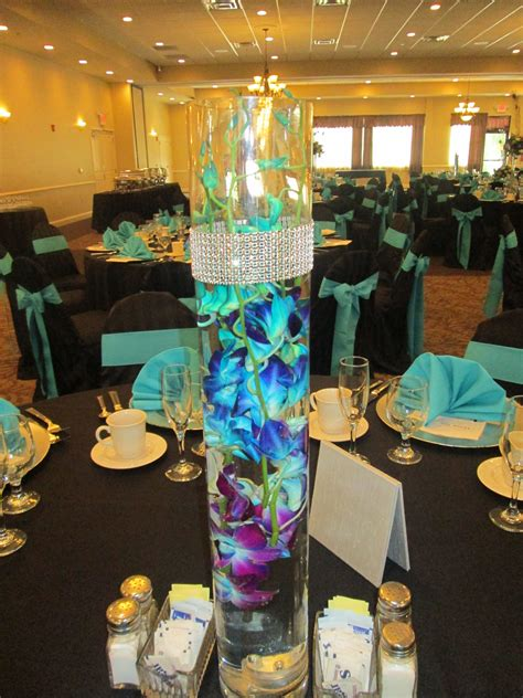 Beautiful Blue And Purple Orchids Centerpieces
