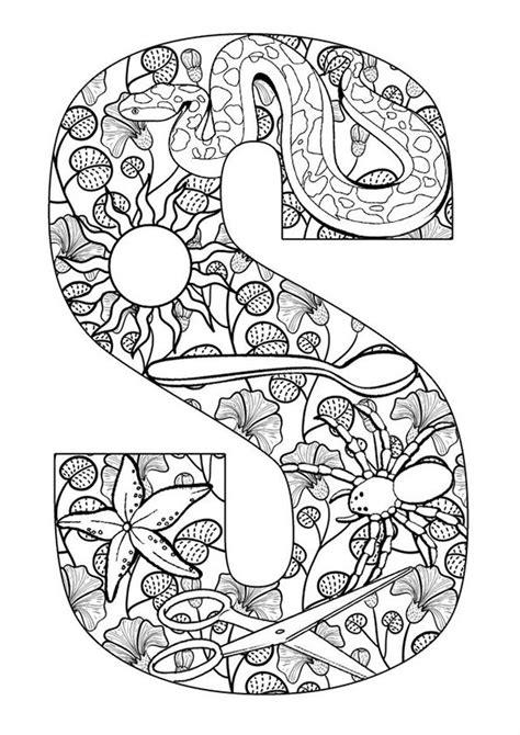 kleurplaat volwassenen letters gratis printen en downloaden coloring page adults