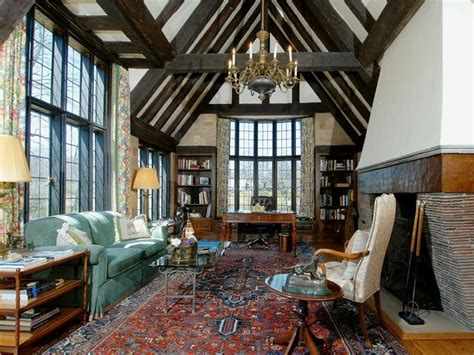 tudor cottage interiors rug english tudor interiors the nearly untouched great room is perhaps the home s most