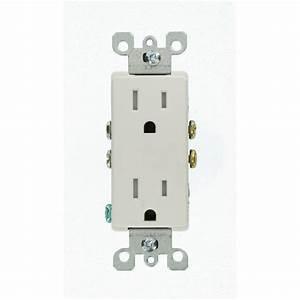 Leviton Decora 15 Amp Tamper-resistant Duplex Outlet  White  10-pack -m22-t5325-wmp