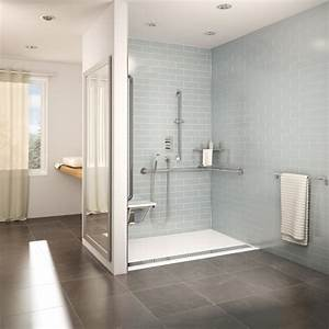 Fleurco introduces the accessible design shower bases a for Porte douche sans seuil