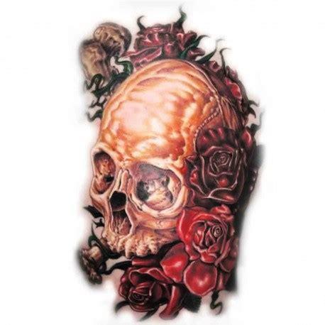 tatoo temporaire crane  roses