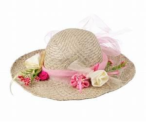 Chapeau De Paille Enfant : chapeau de paille enfants avec fleurs et ruban tulle rose ~ Melissatoandfro.com Idées de Décoration