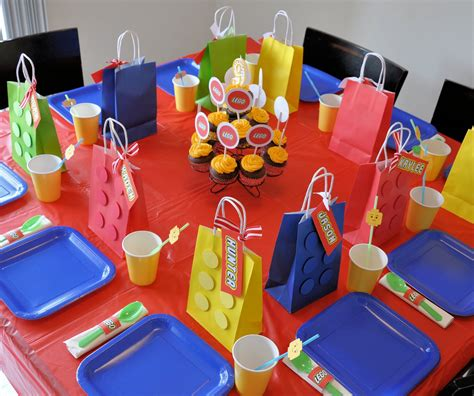 Homemaking Fun A Lego Themed Birthday Party
