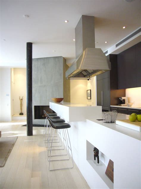 galley kitchen with breakfast bar modern casing kitchen scandinavian with recessed lighting 6781