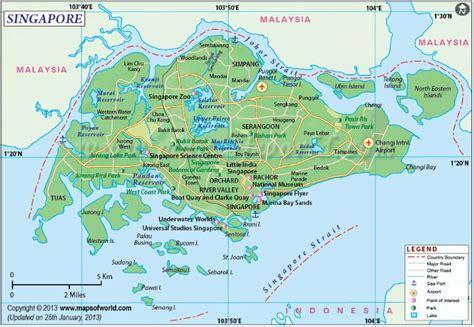 singapore map sentosa airport city hotels mrt maps