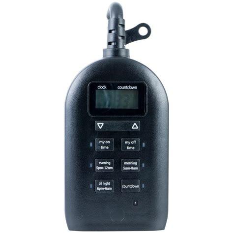 christmas light timer home depot defiant 15 amp plug in indoor outdoor digital timer 29068