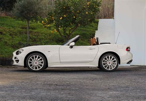 fiat spider white fiat 124 spider convertible review 2016 parkers