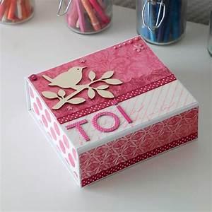 Boite En Carton À Décorer : bo te en carton d corer 16 x 14 x 6 cm boite en carton d corer creavea ~ Melissatoandfro.com Idées de Décoration