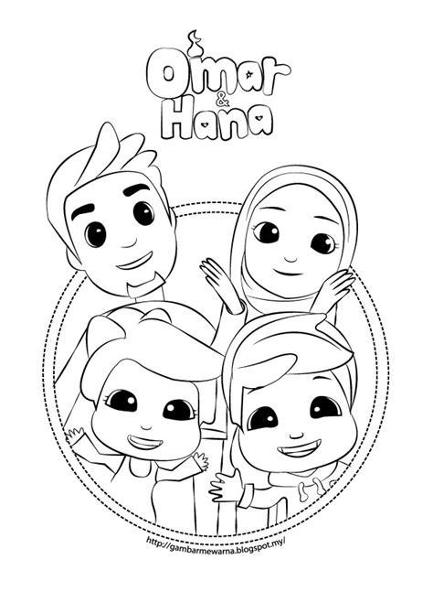 cute omar hana colouring pages  kids picolour