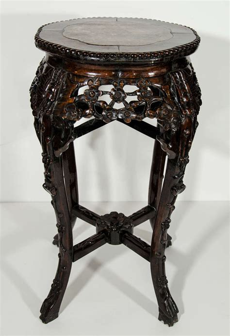 antique marble top side table antique chinese hardwood pedestal side table with marble