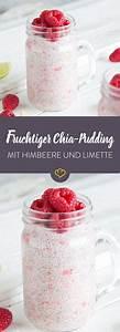 Chia Samen In Joghurt : fruchtiger chia pudding mit himbeeren und limette rezept low carb pudding joghurt und dessert ~ Orissabook.com Haus und Dekorationen