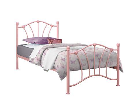 Birlea Sophia Pink Single 3ft 90cm Girls Metal Bed Frame