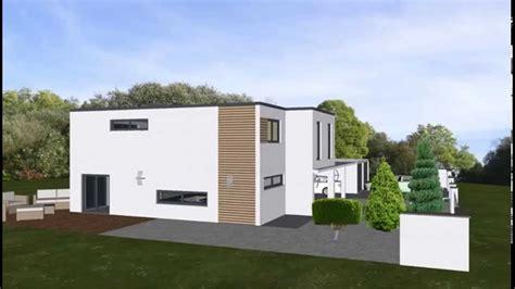 Emi Support Modern Modernes Flachdach Villa Bungalow
