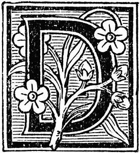 floral decorative d clipart etc With decorative letter d