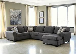 Ivan smith sorenton slate right facing chaise sectional for Sorenton slate left facing sofa sectional w chaise