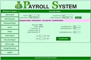 Employee Payroll Management System Asp Net Project
