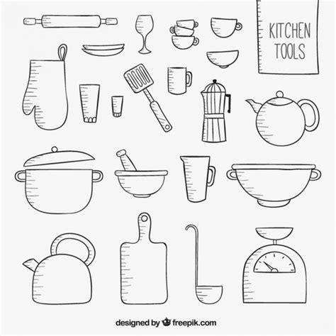 outil de cuisine outils de cuisine sketchy télécharger des vecteurs